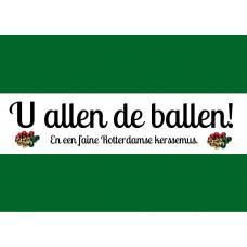 Rotterdamse kerstkaart 'U allen de ballen' (10 st)